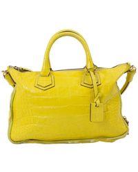 Elena Ghisellini - Yellow Leather Handbag - Lyst