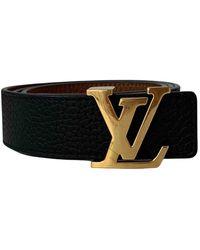 Louis Vuitton Initiales Leder Gürtel - Braun