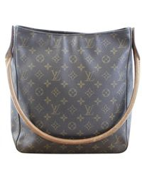 Louis Vuitton Looping Leinen Handtaschen - Braun