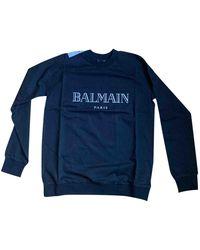 Balmain Black Cotton Knitwear