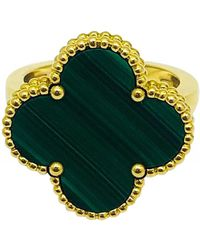 Van Cleef & Arpels Magic Alhambra Yellow Gold Ring - Green