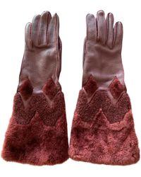 Burberry Schaf Lange Handschuhe - Mehrfarbig