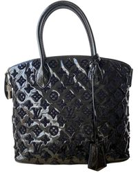 Louis Vuitton Borsa a mano in vernice nero Lockit