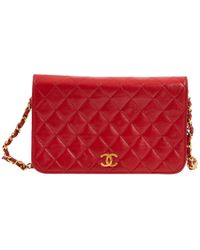 Chanel Red Leather Handbag