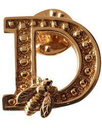 Dior Broche en metal dorado - Multicolor