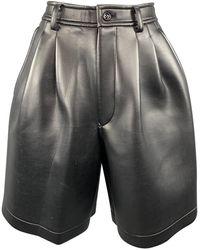 Comme des Garçons \n Black Cotton Shorts