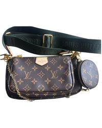 Louis Vuitton Multi Pochette Accessoires Leinen Cross body tashe - Braun