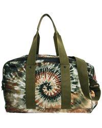 Valentino Khaki Cloth Travel Bag - Multicolour