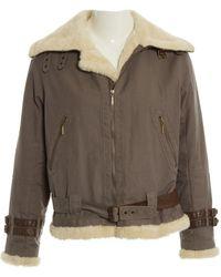 Burberry - Grey Cotton Jacket - Lyst
