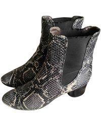 Isabel Marant Danae Leather Ankle Boots - Black