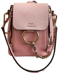 Chloé Faye Leather Backpack - Pink