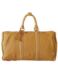 Louis Vuitton Keepall Leder Reise tasche - Gelb
