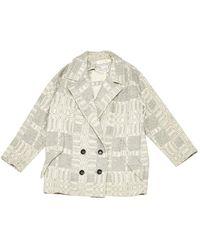 Étoile Isabel Marant Cappotto in lana grigio