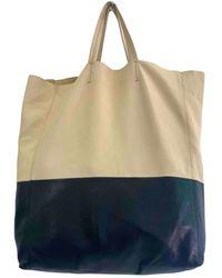 Celine Cabas Leder Handtaschen - Natur