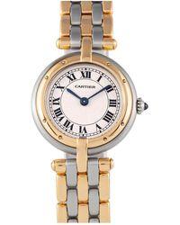 Cartier Vintage Panthère Vendôme Silver Gold And Steel Watches - Metallic