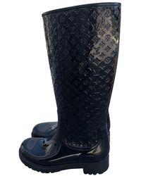 Louis Vuitton Botas en plástico negro Drops
