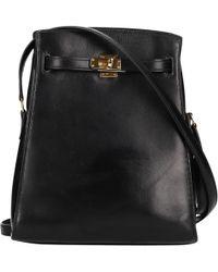 Hermes Kelly Sport Leather Handbag In Black Lyst