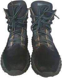 Giuseppe Zanotti Velvet Boots - Black