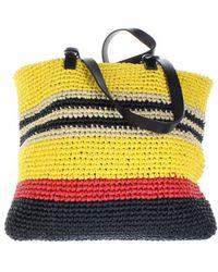Marni Multicolor Cloth Travel Bag - Yellow
