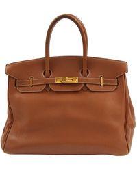 Hermès Vintage Birkin 35 Camel Leather Handbag - Brown