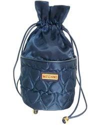 Moschino Leinen Kleine tasche - Blau