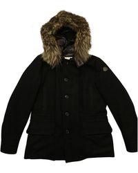 Moncler Chaqueta en mapache negro Fur Hood