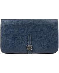 Hermès Dogon Blue Leather