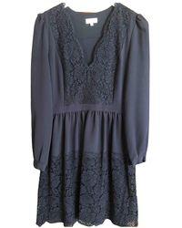 Claudie Pierlot Lace Mini Dress - Blue