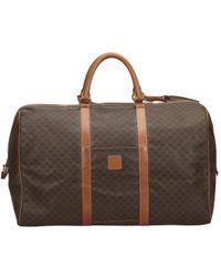 Céline - Vintage Brown Plastic Travel Bag - Lyst