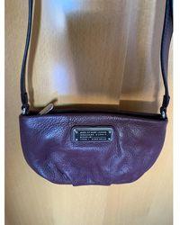 Marc By Marc Jacobs Classic Q Burgundy Leather Handbag - Multicolour