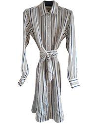 Burberry Silk Mid-length Dress - Multicolor