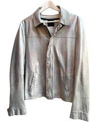 CoSTUME NATIONAL Leather Jacket - Metallic