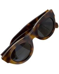 Celine New Audrey Oversized Sunglasses - Brown