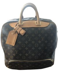 Louis Vuitton Valigie in tela marrone