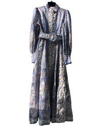 Zimmermann Vestito lungo in Lino - Blu