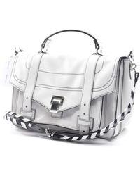 Proenza Schouler Bolsa de mano en cuero blanco PS1 - Multicolor