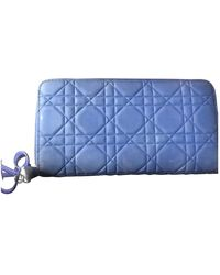 Dior Lady Leather Wallet - Blue