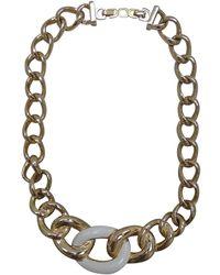 Dior Collana in placcato oro dorato - Multicolore
