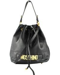 Moschino Black Leather Handbag