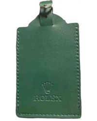 Rolex Leather Card Wallet - Green