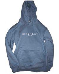 Givenchy Blue Cotton Knitwear & Sweatshirt