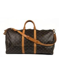 8bd338cd9328 Lyst - Louis Vuitton Grimo 45 Hand Bag Damier Brown Used Vintage in ...