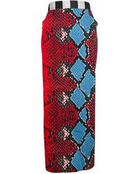 Stella Jean Falda en algodón multicolor - Rojo
