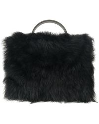 Vivienne Westwood Faux Fur Handbag - Black