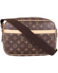 Louis Vuitton Reporter Brown Cloth Bag