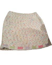 Chanel Falda midi Tweed - Multicolor