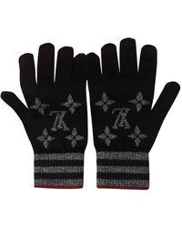 Louis Vuitton Wolle Handschuhe - Schwarz