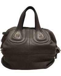 Givenchy Nightingale Leather Handbag - Gray