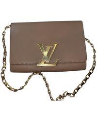 Louis Vuitton Louise Beige Leather Handbag - Natural