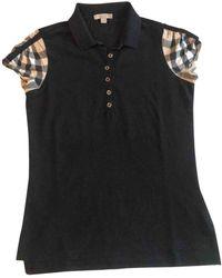 Burberry Black Cotton Top